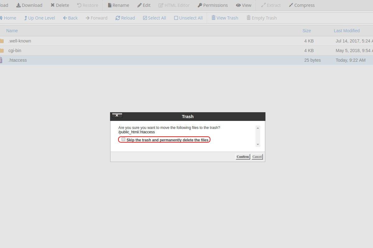 Brisanje fajlova i direktorijuma pomoću file manager-a